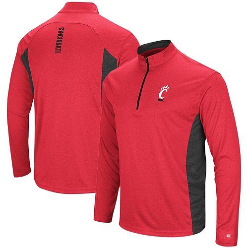 Men's Colosseum Red Cincinnati Bearcats Audible Windshirt Quarter-Zip Pullover Jacket