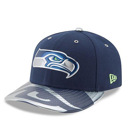 Men's New Era Navy Seattle Seahawks NFL Spotlight Low Profile 59FIFTY Fitted Hat