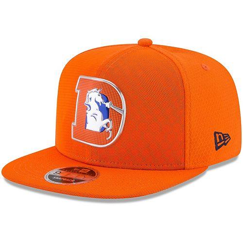 Men's New Era Orange Denver Broncos 2017 Color Rush 9FIFTY Snapback Adjustable Hat
