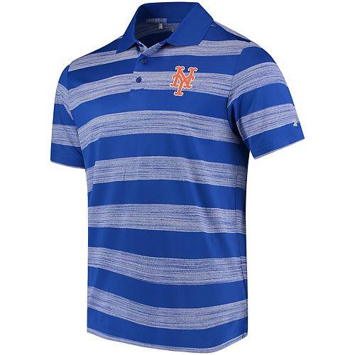 Men's Under Armour Royal New York Mets Skyball Tonal Stripe Polo