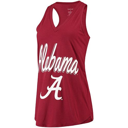Women's Crimson Alabama Crimson Tide At Ease V-Neck Tank Top