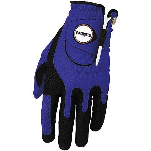 Men's Blue New England Patriots Left Hand Golf Glove & Ball Marker Set