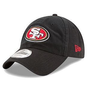 Men's New Era Black San Francisco 49ers Core Classic 9TWENTY Adjustable Hat
