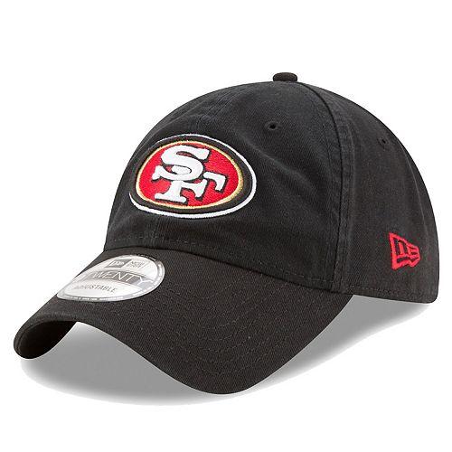 Men's New Era Black San Francisco 49ers Core Classic 9TWENTY Adjustable Hat