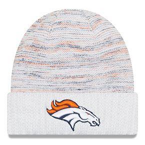 Men's New Era White Denver Broncos 2017 Color Rush Kickoff Knit Hat