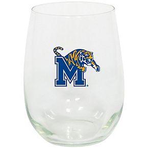 Memphis Tigers 15oz. Stemless Wine Glass