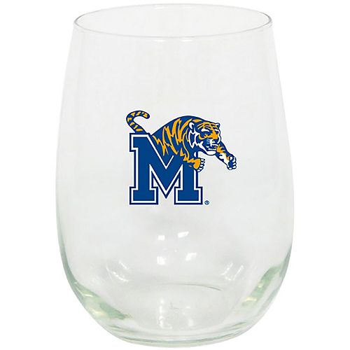 Memphis Tigers 15oz. Stemless Wine Glass