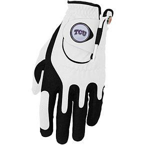 Men's White TCU Horned Frogs Left Hand Golf Glove & Ball Marker Set