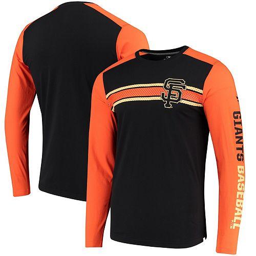 Men's Fanatics Branded Black San Francisco Giants Iconic Long Sleeve T-Shirt