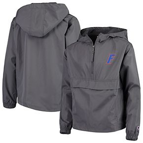 Youth Champion Graphite Florida Gators Pack & Go Windbreaker Jacket