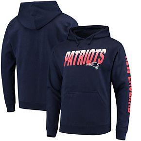 Men's Navy New England Patriots Team Logo Pullover Hoodie