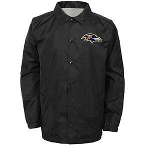 Youth Black Baltimore Ravens Bravo Coach Jacket