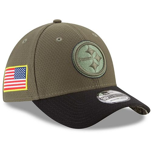 Youth New Era Olive Pittsburgh Steelers 2017 Salute To Service 39THIRTY Flex Hat