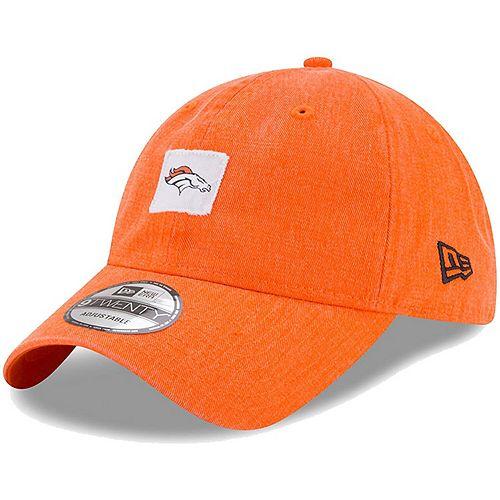 Men's New Era Orange Denver Broncos Stamped 9TWENTY Adjustable Hat
