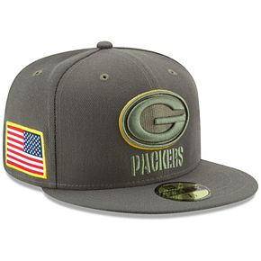 Men's New Era Olive Green Bay Packers 2017 Salute To Service 59FIFTY Fitted Hat