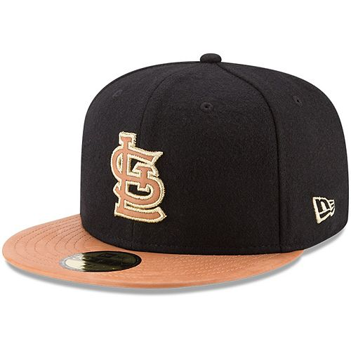 Men's New Era Black/Natural St. Louis Cardinals Wilson Collaboration 59FIFTY Fitted Hat