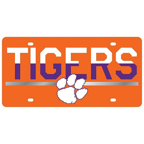 Clemson Tigers DuoTone Color Acrylic License Plate