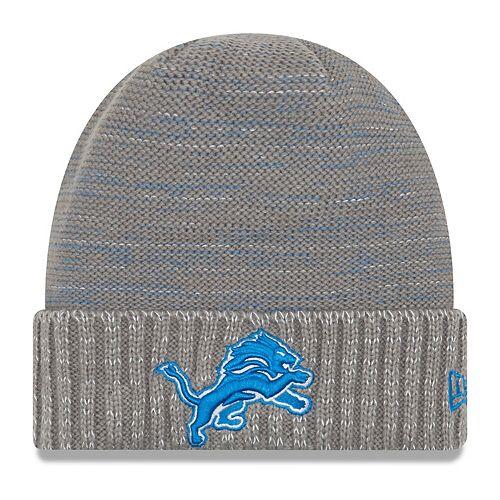 Men's New Era Gray Detroit Lions 2017 Color Rush Knit Hat