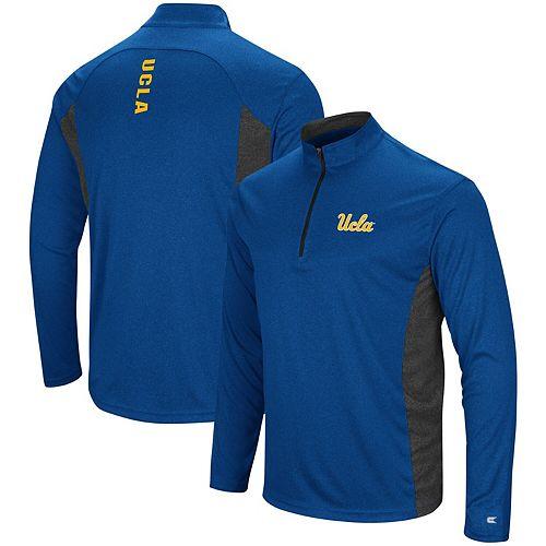 Men's Colosseum Blue UCLA Bruins Audible Windshirt Quarter-Zip Pullover Jacket