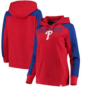 Women's Fanatics Branded Red/Royal Philadelphia Phillies Iconic Pullover Hoodie