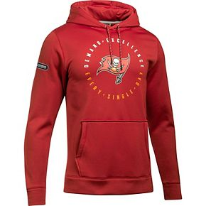 Men's Under Armour Red Tampa Bay Buccaneers Combine Authentic Demand Excellence Pullover Hoodie