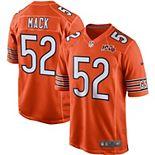 Men's Nike Khalil Mack Orange Chicago Bears 100th Season Game Jersey
