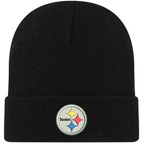 Toddler New Era Black Pittsburgh Steelers Basic Cuffed Knit Hat
