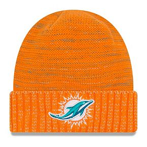 Youth New Era Orange Miami Dolphins 2017 Color Rush Official Knit Hat