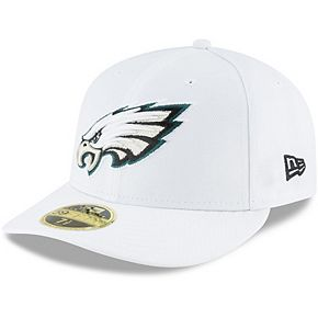 Men's New Era White Philadelphia Eagles Omaha Low Profile 59FIFTY Fitted Hat