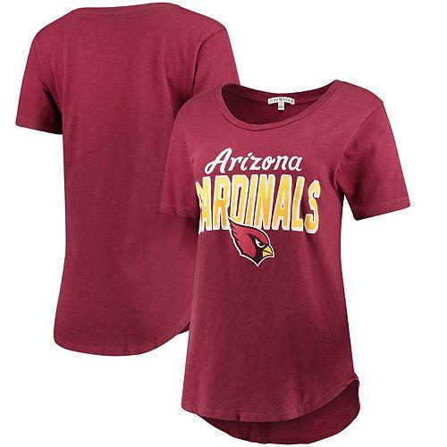 Women's Junk Food Cardinal Arizona Cardinals Game Time T-Shirt