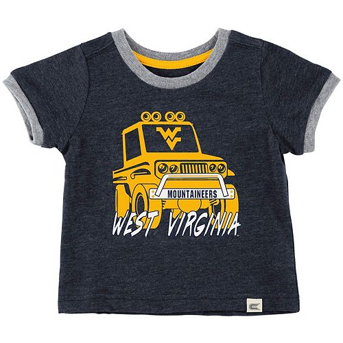 Newborn & Infant Colosseum Heathered Navy West Virginia Mountaineers Mud Flap Ringer T-Shirt