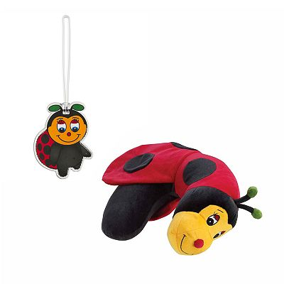 Li'l Lewis Ladybug Neck Pillow and Luggage Tag Set
