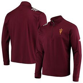 Arizona State Sun Devils adidas College Three-Stripe Quarter-Zip Jacket - Maroon