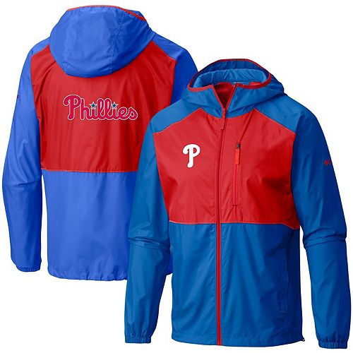 Men's Columbia Royal Philadelphia Phillies Flash Forward Full-Zip Team Windbreaker Jacket