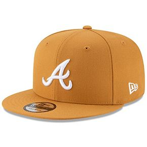 Atlanta Braves New Era Basic 9FIFTY Adjustable Hat - Tan