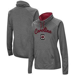 Women's Charcoal South Carolina Gamecocks Funnel Neck Pullover Sweatshirt