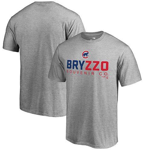 Men's Fanatics Branded Gray Chicago Cubs Bryzzo Souvenir T-Shirt