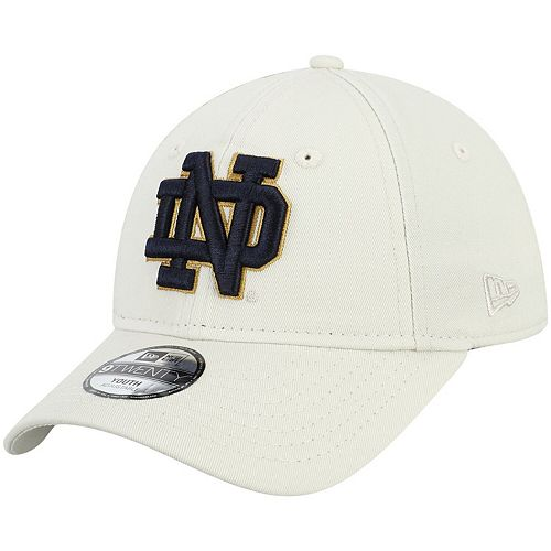 Youth New Era Cream Notre Dame Fighting Irish Core Classic Twill 9TWENTY Adjustable Hat