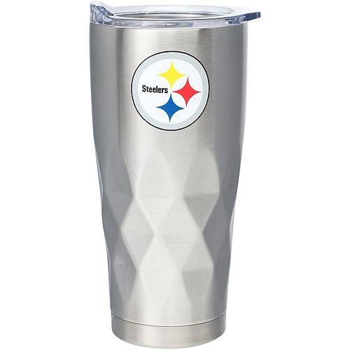 Pittsburgh Steelers 22oz. Diamond Bottom Stainless Steel Tumbler