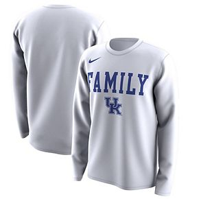 Men's Nike White Kentucky Wildcats March Madness Family on Court Legend Basketball Performance Long Sleeve T-Shirt