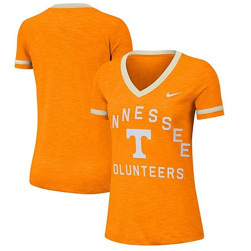 Women's Nike Tennessee Orange Tennessee Volunteers Performance Slub Retro Fan V-Neck T-Shirt