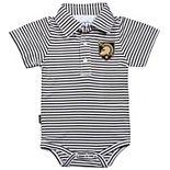 Infant Garb Black/White Army Black Knights Carson Striped Short Sleeve Bodysuit