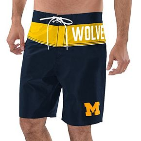 Men's G-III Sports by Carl Banks Navy/Maize Michigan Wolverines All-Star Swim Trunks