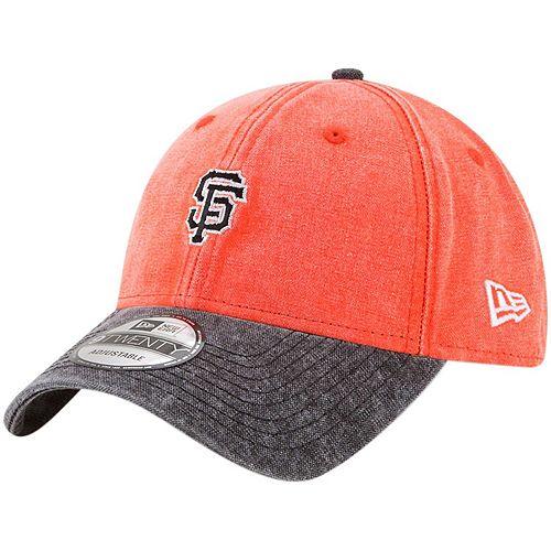 Men's New Era Orange San Francisco Giants Rugged 9TWENTY Adjustable Hat