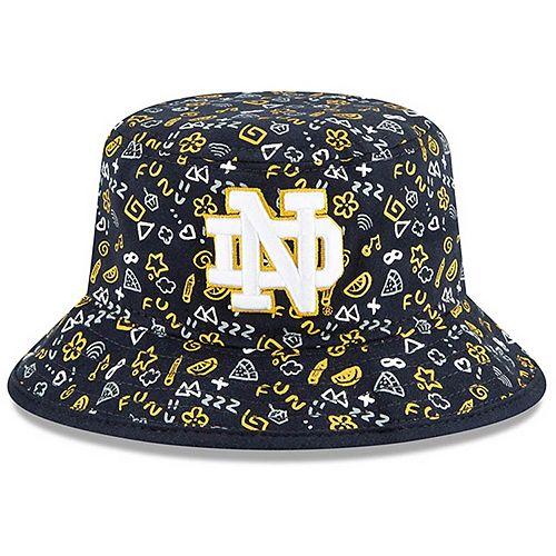 Toddler New Era Navy Notre Dame Fighting Irish Pattern Bucket Hat