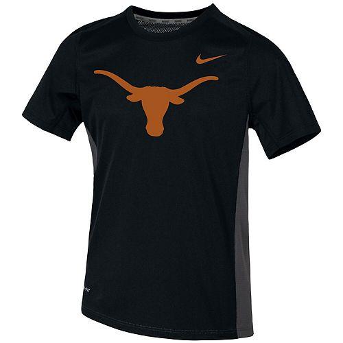 Youth Nike Black Texas Longhorns Miler Performance T-Shirt