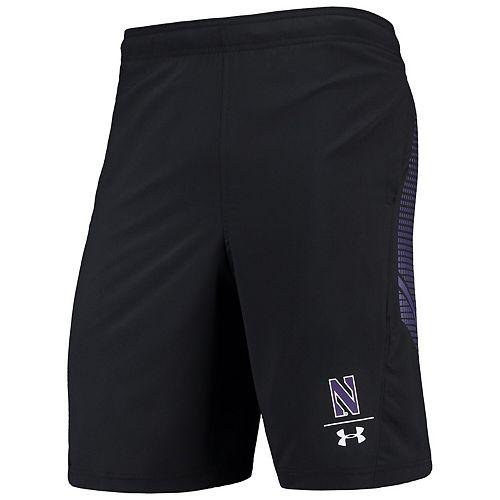 Men's Under Armour Black Northwestern Wildcats Pinnacle Woven Performance Shorts