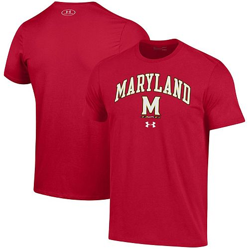 Men's Under Armour Red Maryland Terrapins Arched Performance T-Shirt