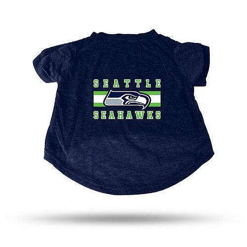 Sparo Blue Seattle Seahawks Pet T-Shirt