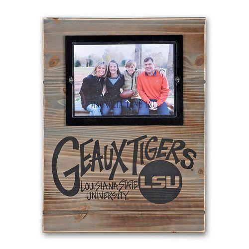 "LSU Tigers 11"" x 14.5"" Wood Frame"